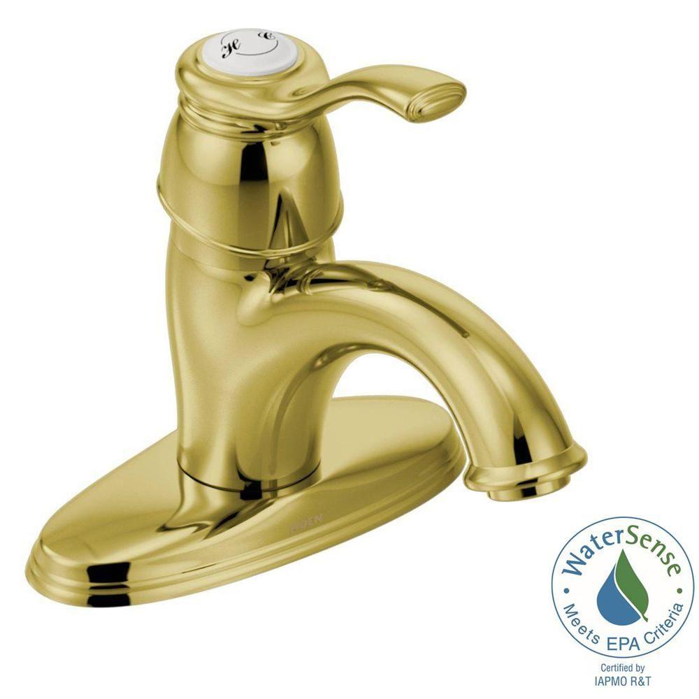 Moen Kingsley Single Hole 1 Handle Bathroom Faucet In Brushed