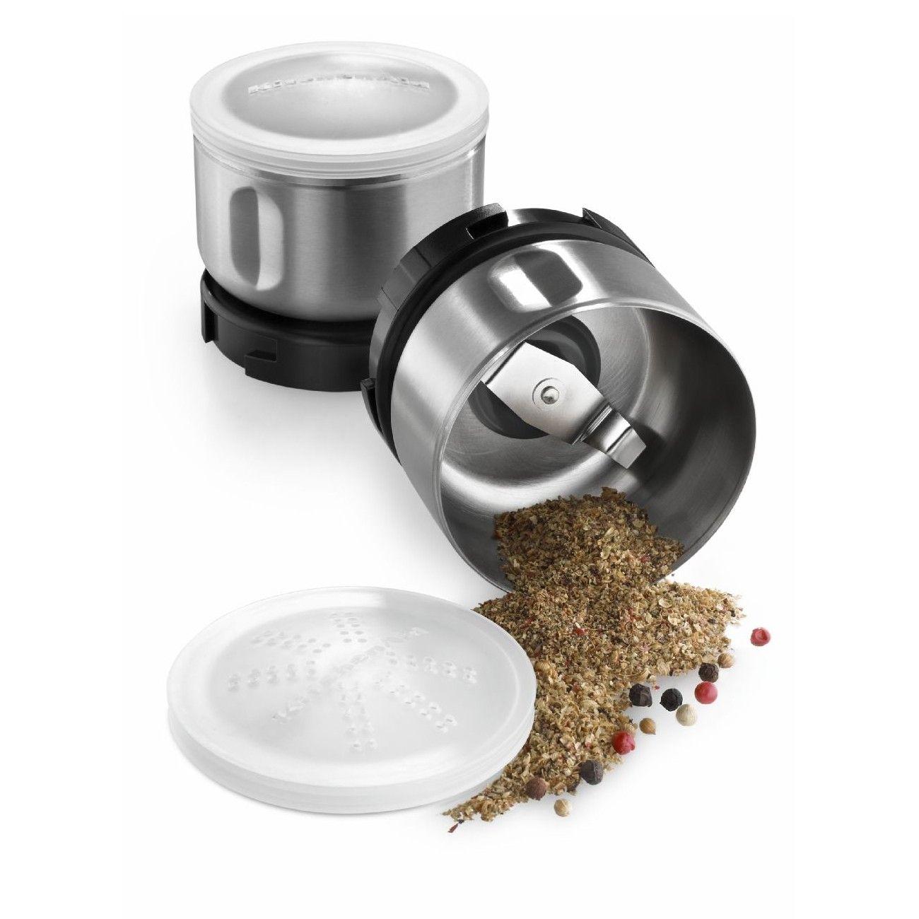 Kitchenaid bcgsga 2 piece stainless steel spice grinder