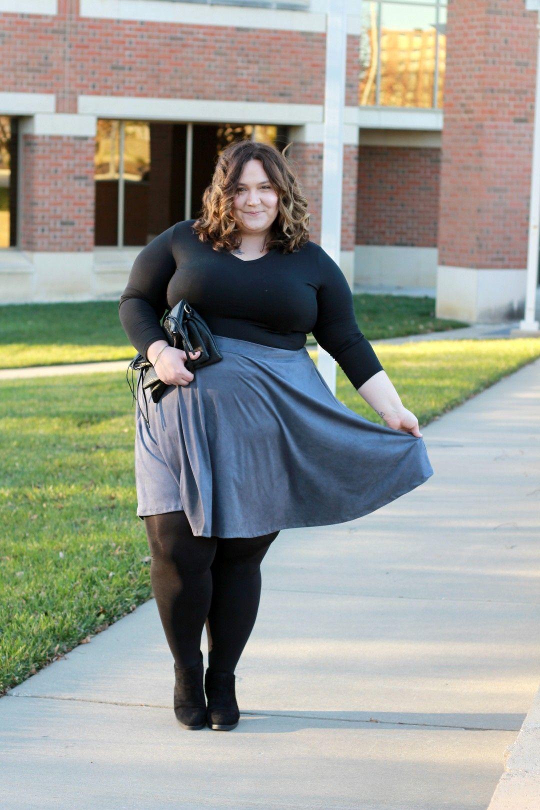 ec675d0124c8e Perfect Plus Size Suede Skirt    Fatgirlflow.com