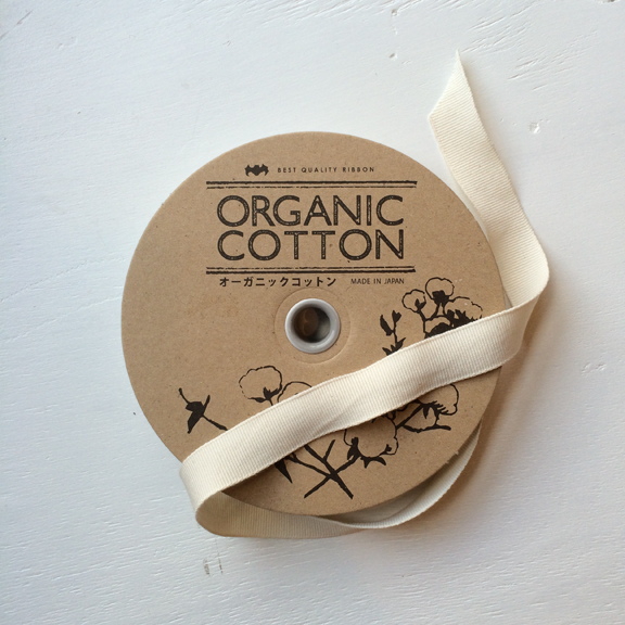 Organic Cotton Ribbon in Cream 20mm at Spool Pittsburgh