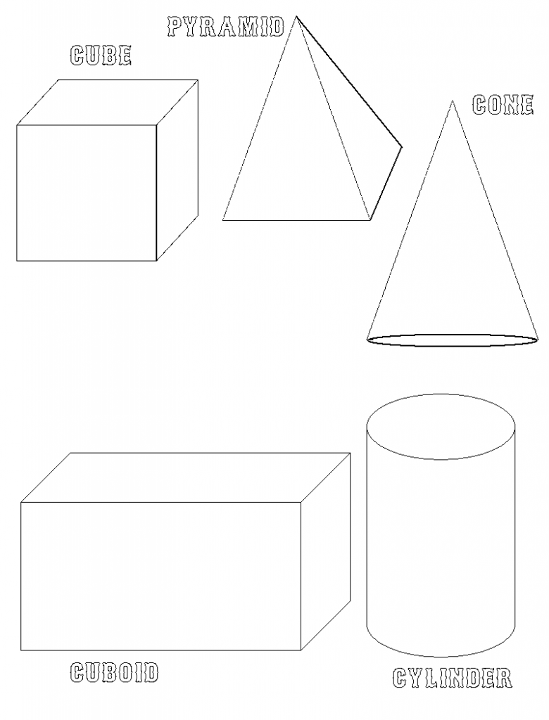 Free Printable Shapes Coloring Pages For Kids Shape