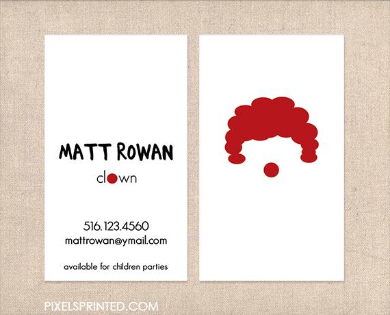 Clown business cards clown cards inspiration pinterest clown business cards clown cards colourmoves