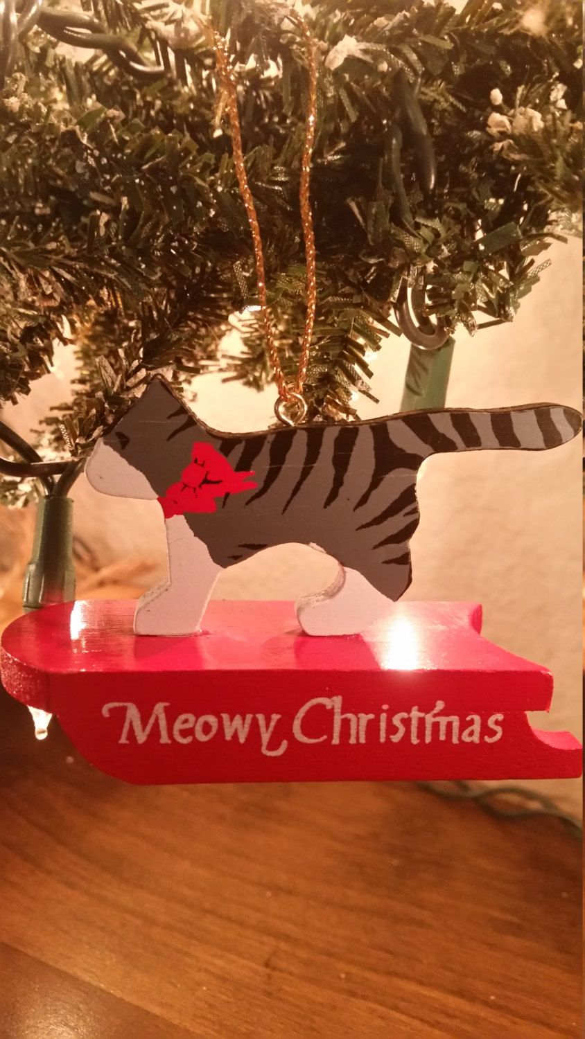 Soldarming vintage american greetings sledding cat christmas charming vintage american greetings sledding cat christmas ornament by bigdogcollectables m4hsunfo Image collections