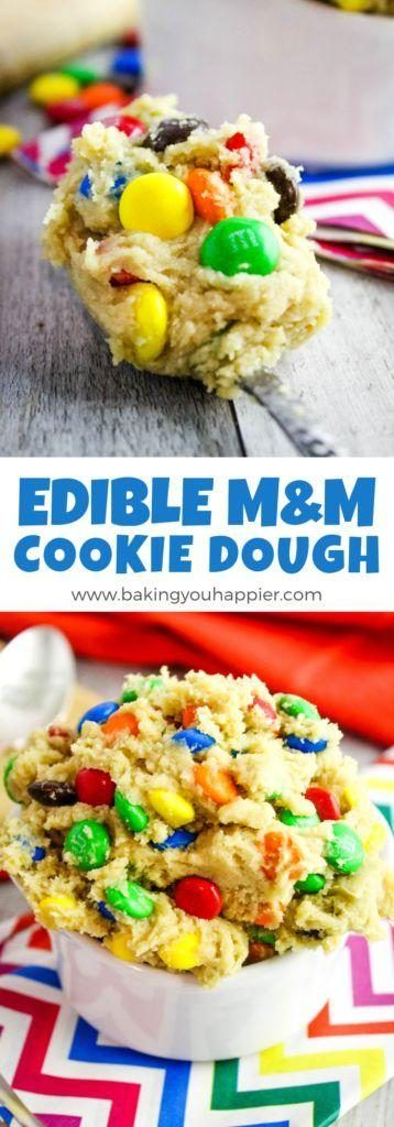 Edible M&M Cookie Dough | Baking You Happier