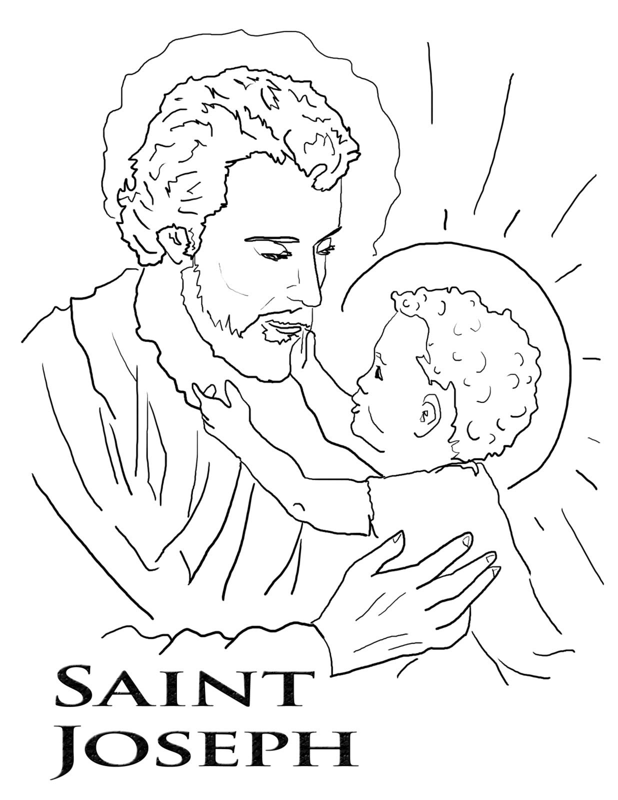 St Joseph Coloring Page Feast Of St Joseph Patron St Coloring Page Catholic