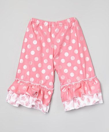 Take a look at this Pink Polka Dot Scottlynn Ruffle Pants - Infant & Toddler on zulily today! My second cuz making her way in the modeling world. Awwww