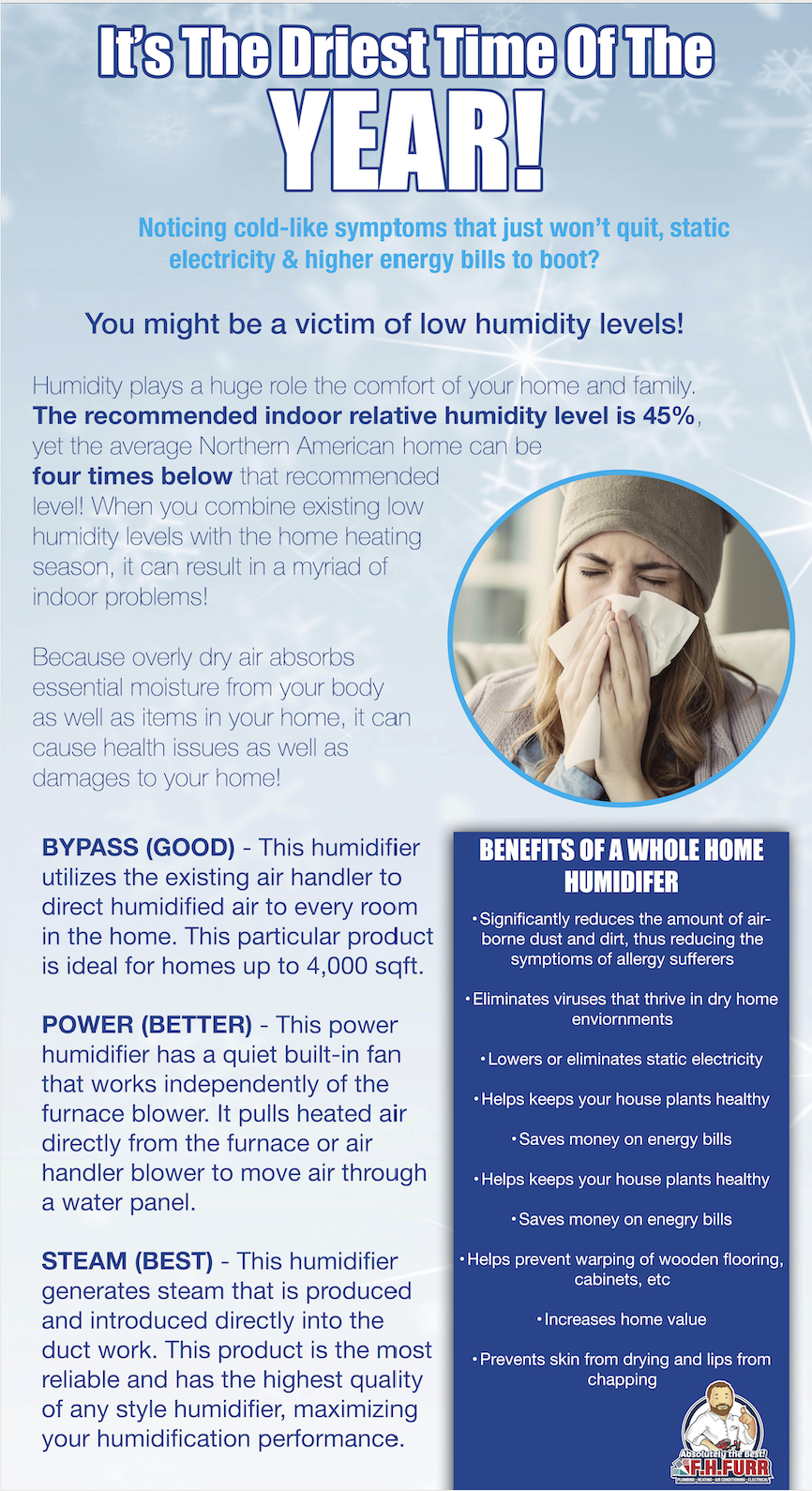 Direst Time Of The Year Does Your Home Need A Humidifier In 2020 Hvac Services Static Electricity Electricity