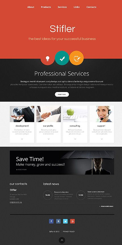 Template 46160 red and black responsive business website template template 46160 red and black responsive business website template with gallery and homepage slider accmission Images