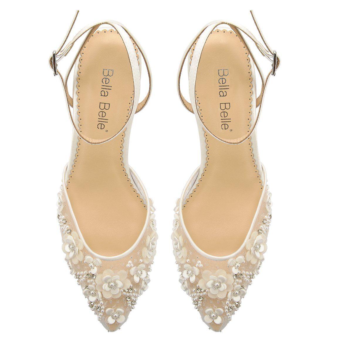 Kitten Heel Ivory Pearl Wedding Shoes In 2020 Ankle Strap Heels Pearl Wedding Shoes Blush Shoes