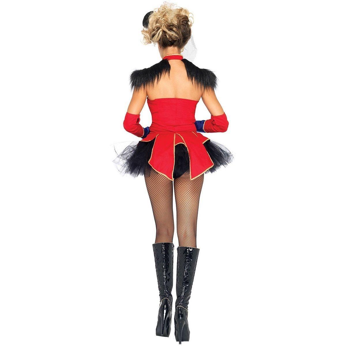 32f1cb19c Sexy Ring Master Mistress Womens Costume Circus Lion Tamer Halloween Fancy  Dress | eBay