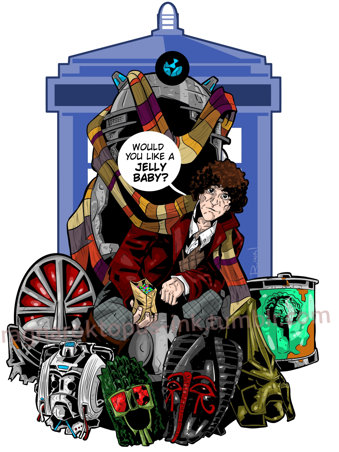 Doctor Who the Fourth Doctor #5D FN 2016 Stock Image