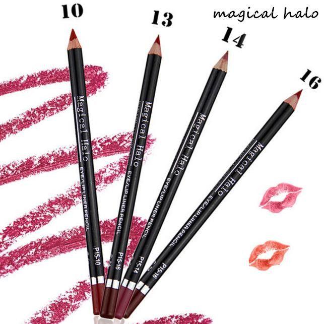 2017 Hot  12pcs/Set Waterproof Lip Liner Pencil Long Lasting Lipliner Makeup Tools  Delineador de labios  Mar22