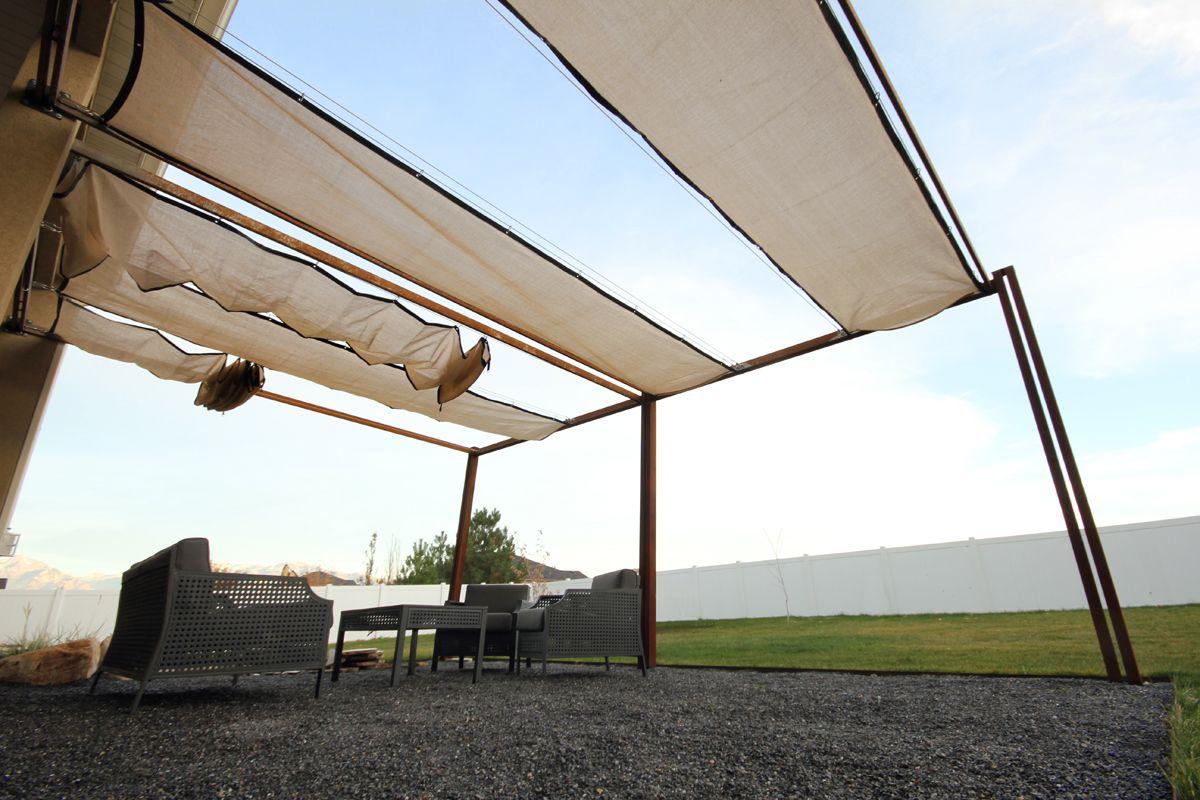 Canopie Pergola Design | Kingbird Design, LLC | Pergola With Retractable  Shades