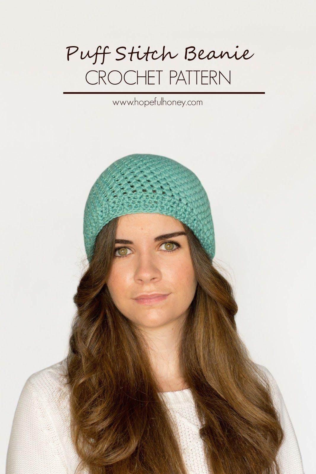 Puff Stitch Beanie Crochet Pattern | Gorros, Dos agujas y Tejido
