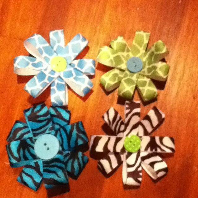 I did not make these bows, Rylee did.  She spent her birthday money to buy the supplies. So cute