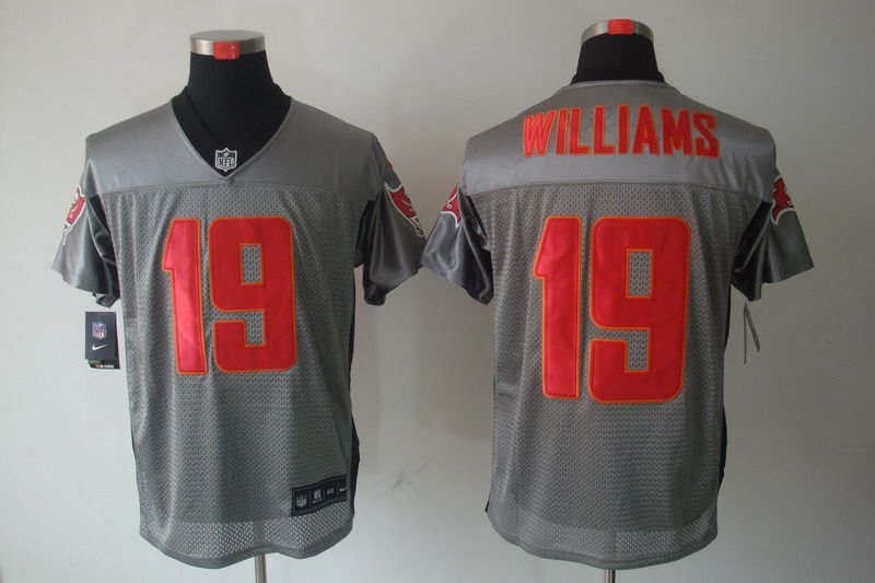 b81a711fd Williams Jersey Grey  19 Nike NFL Tampa Bay Buccaneers Jersey  24 ...