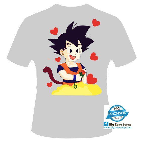 GOKU and CHICHI in love Digital design 2cf3245a20021
