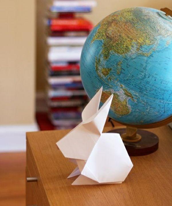 origami hase falten anleitung und inspirierende osterdeko ideen origami kunst osterhasen. Black Bedroom Furniture Sets. Home Design Ideas