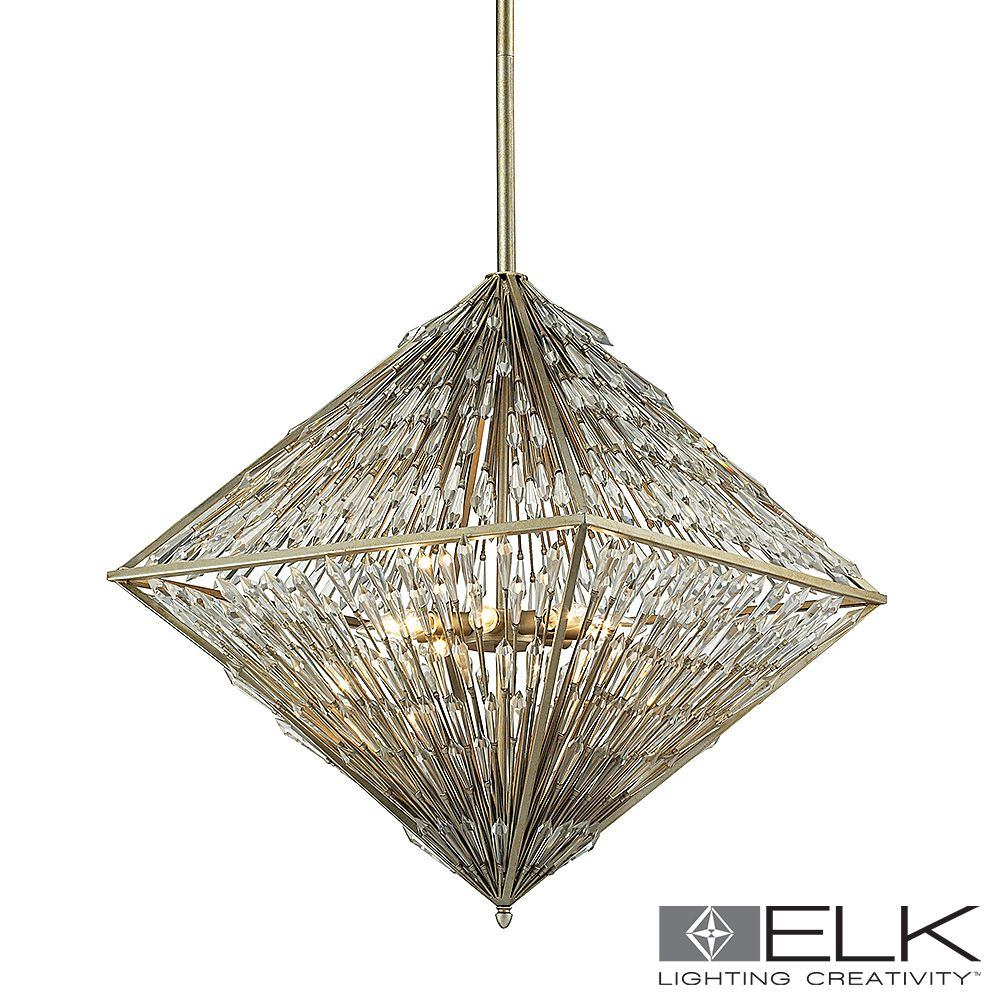 Elk Lighting Grape Trellis Chandelier 035 Ia Led Metropolitandecor