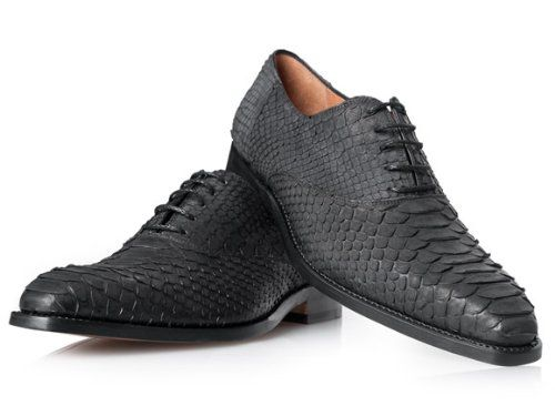 timeless design dd620 d62e2 Schlangenleder Schuhe in Schwarz - No. 460 Python Schuhe ...