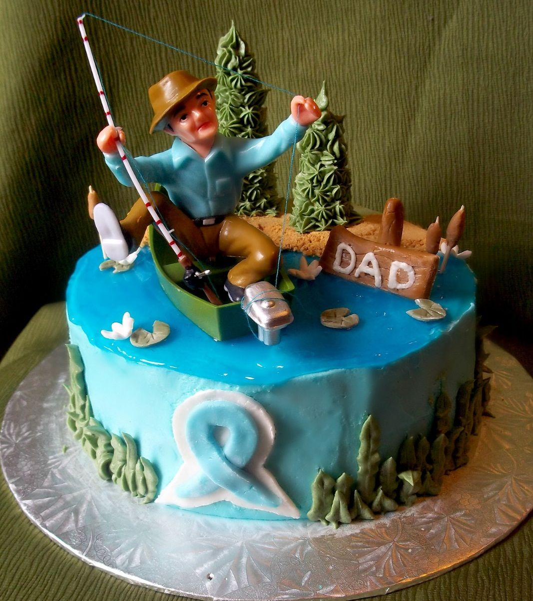 Fishing cake dads 60th birthday cake idea Dads 60th Birthday