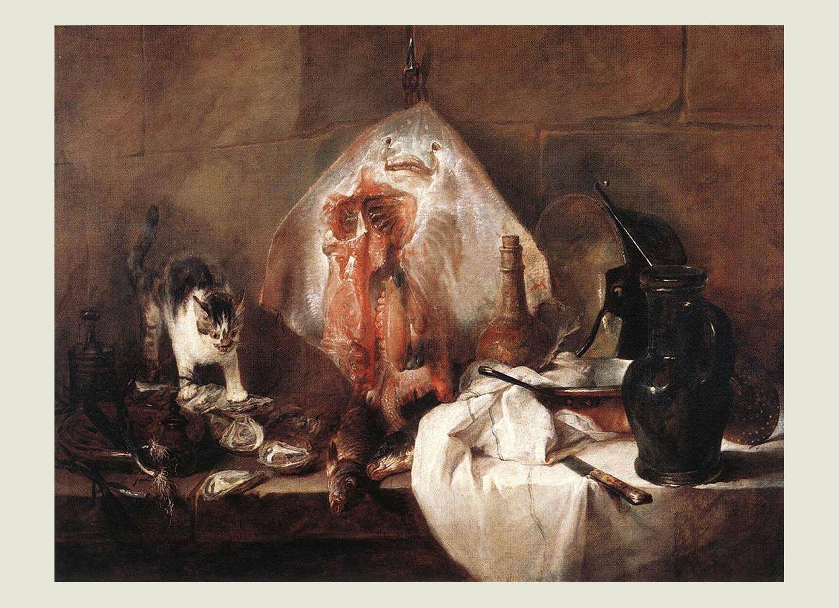 La Raie Chardin Avec Images Affiche Artistique Peinture De