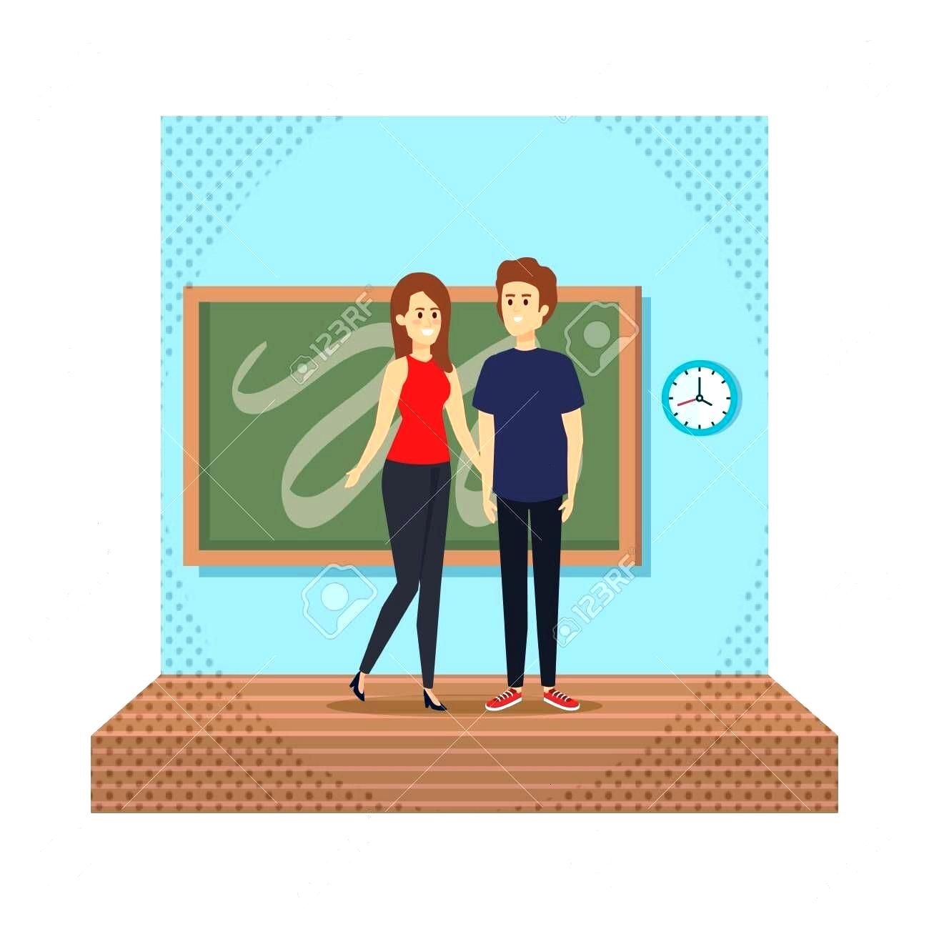 young teachers couple with chalkboard in classroom scene vector illustration design Illustration ,