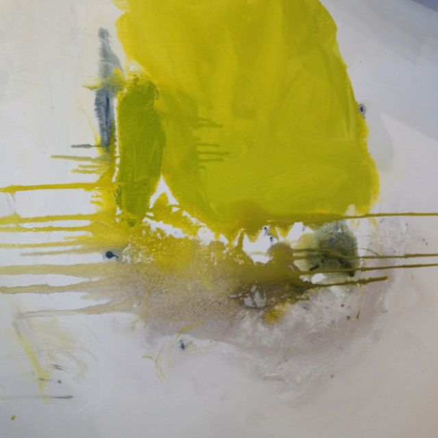 CHARTREUSE FLOAT by  Kerri Rosenthal 40x40