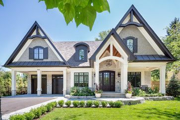 Transitional Craftsman Custom Home Transitional Exterior Toronto By Prestige Homes House Exterior Dream House Exterior Transitional House