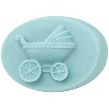 3D Molde De Vela De Silicona Cochecito de Bebé Resina Jabón