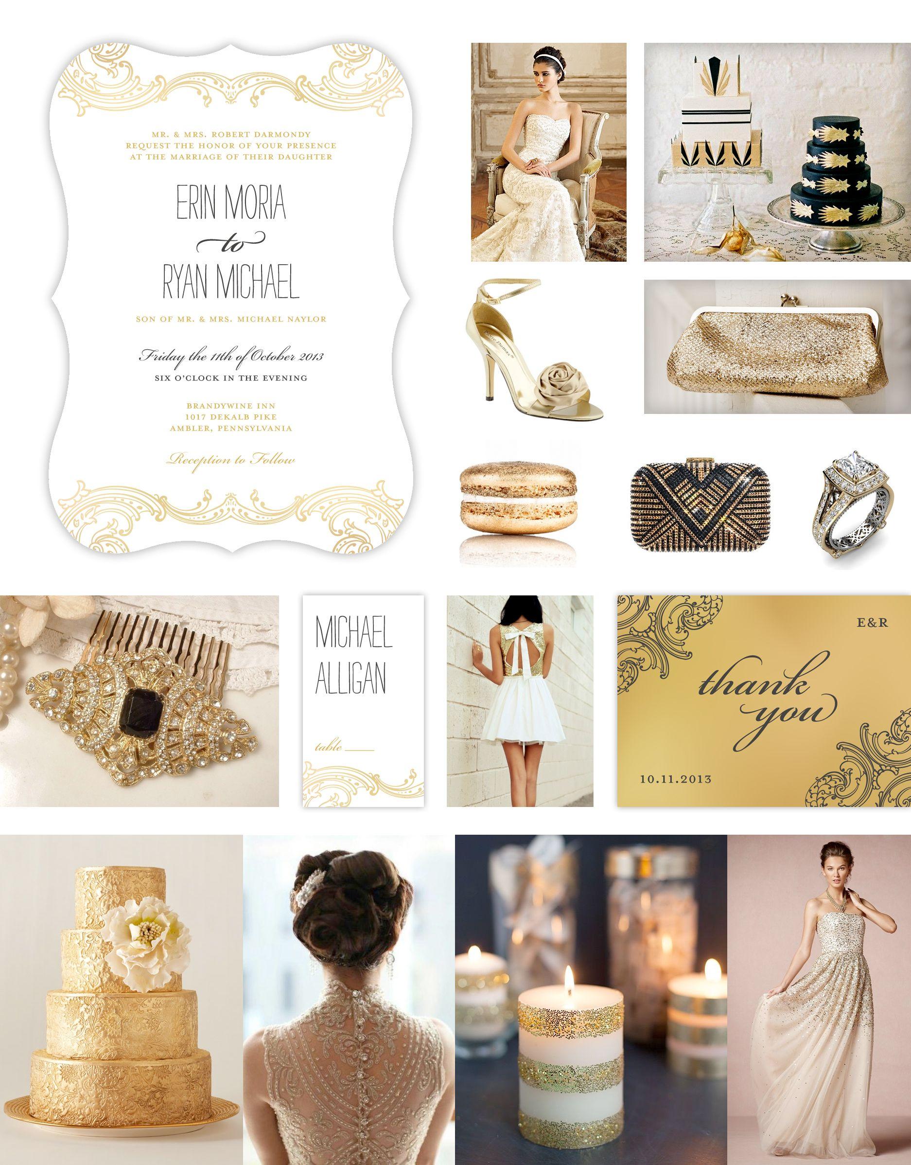 Gold & Black Wedding Theme -- Gold Wedding -- Vintage Wedding Theme ...