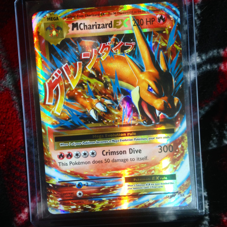 Mega Charizard EX 13/108 Pokemon Card From The New XY