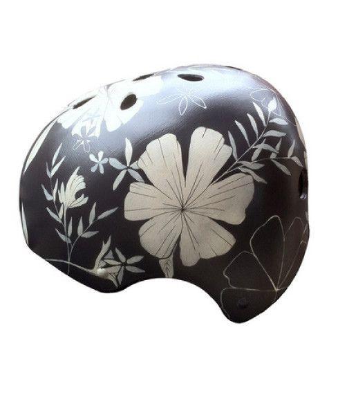 Belle Bike Helmets Hand-Painted Foral Design