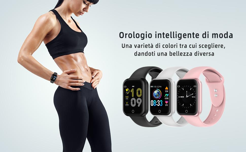 KUNGIX Smartwatch Orologio Fitness Trakcer Pressione