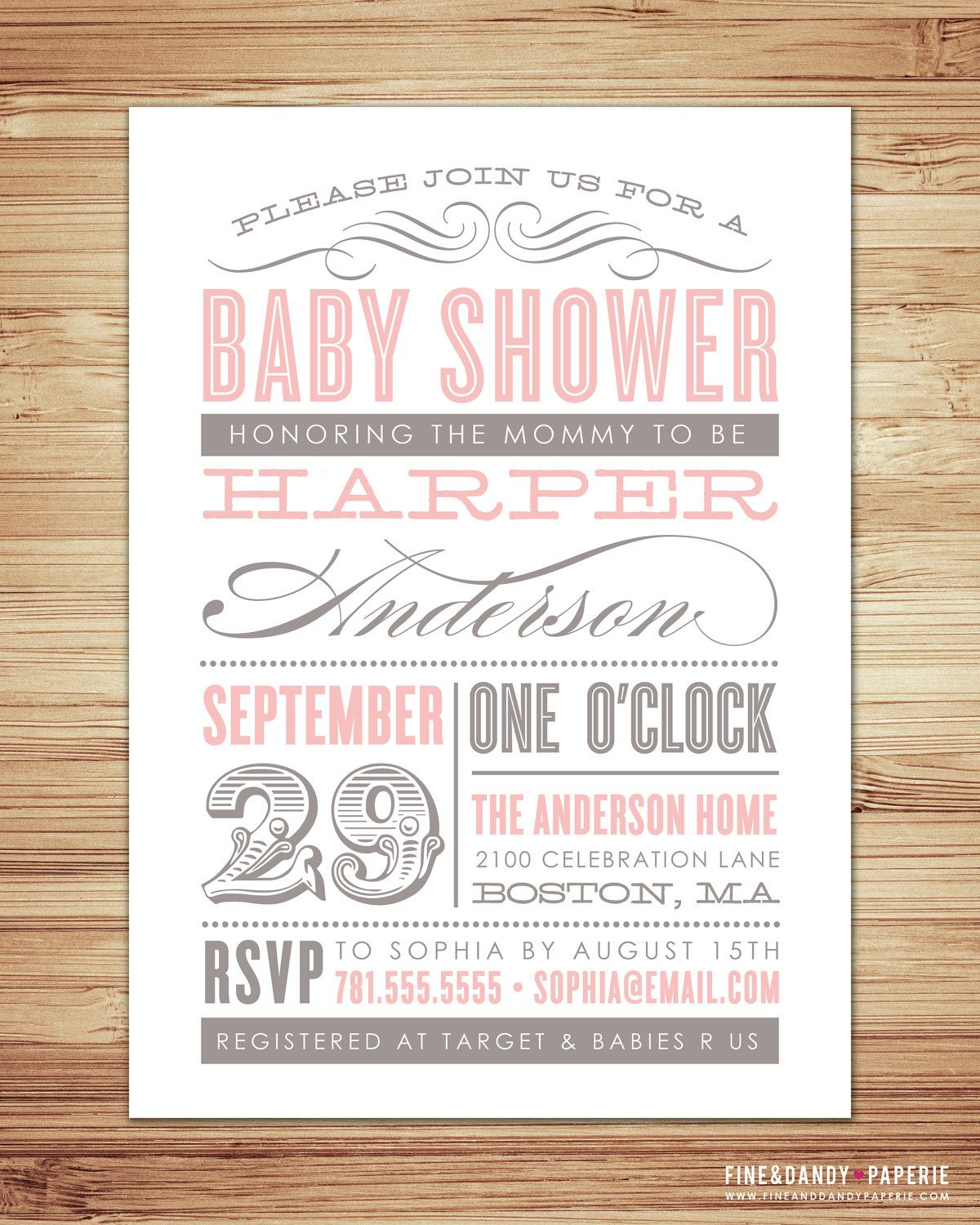 Old Fashioned Baby Shower Invitation 20 00 Via Etsy Would Be