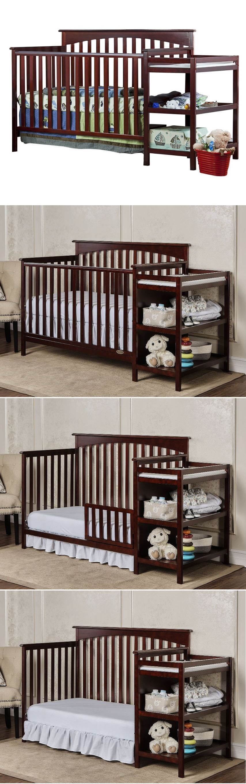Baby Nursery: Baby Crib With Changing Table Nursery Furniture ...