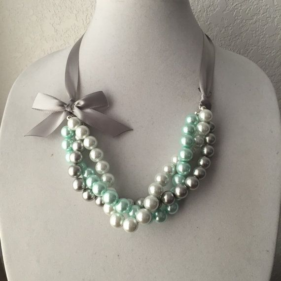 Hey, I found this really awesome Etsy listing at https://www.etsy.com/listing/228207936/twisted-white-silver-and-mint-pearl
