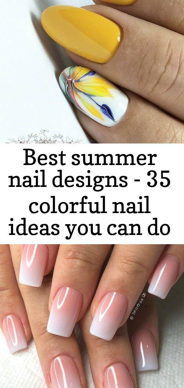 Beste zomernagelontwerpen – 35 kleurrijke nagelideeën die je zelf thuis kunt doen nieuw 2019 – pagina 25