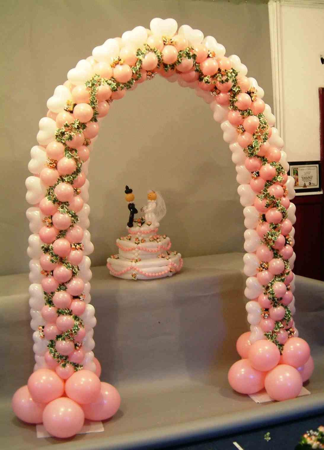 as their event venue heart balloon wedding arch shaped for