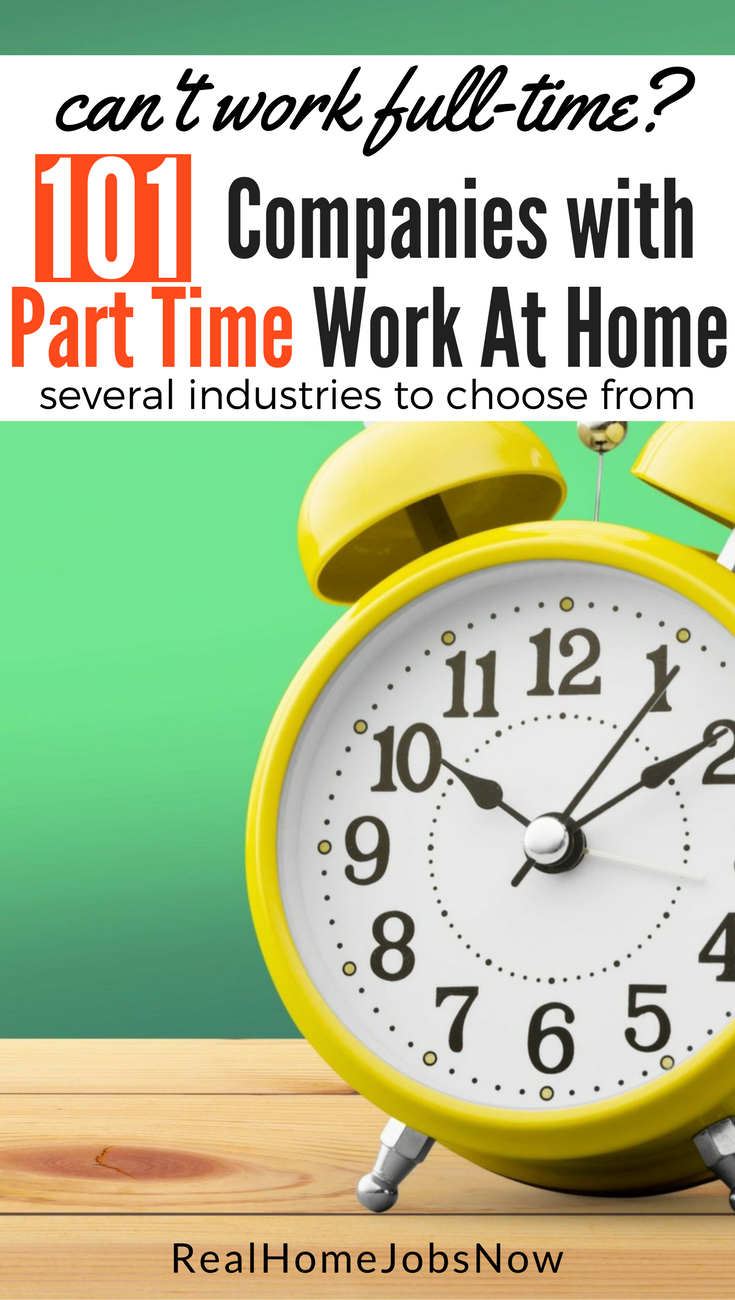 These companies offer part time work from home for several industries - from live chat jobs to freelance writing. Find your home-based part time job today!