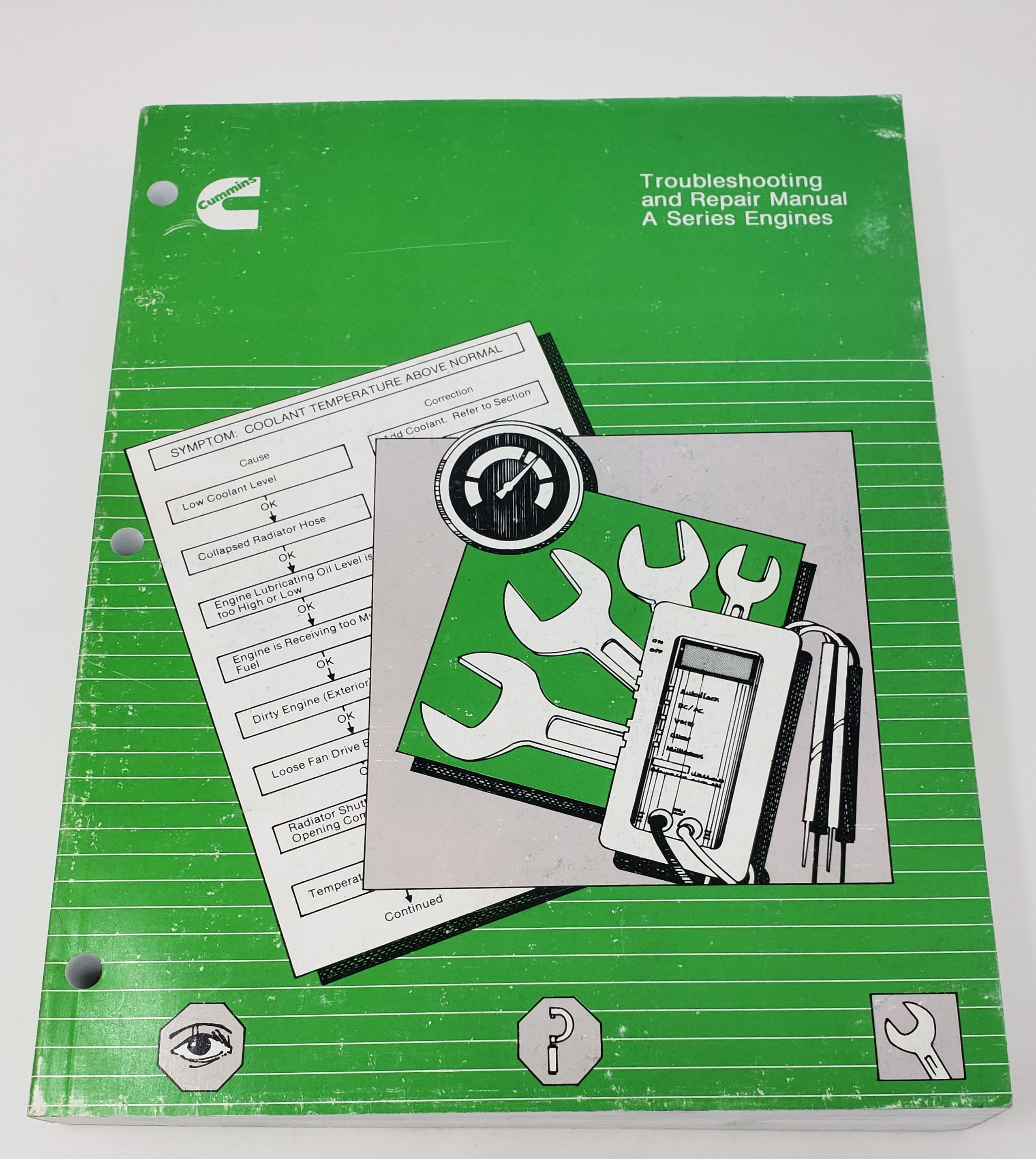 1990 Cummins Troubleshooting Repair Manual A Series Engines 3810398 00 Repair Manuals Cummins Repair