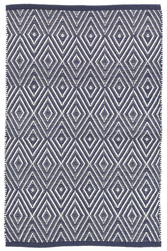 Diamond Navy White Indoor Outdoor Rug 5x8 264 6x9 328