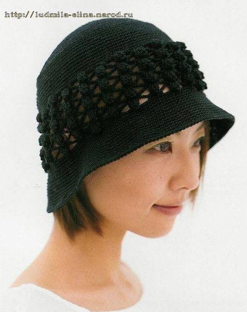 Patrones de Crochet y Dos Agujas | Sombreros & Gorros de puntos ...
