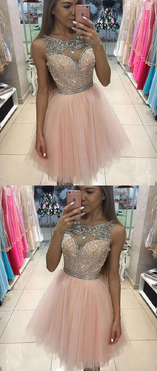 Comely pink homecoming dresses cute prom dress short prom dress in