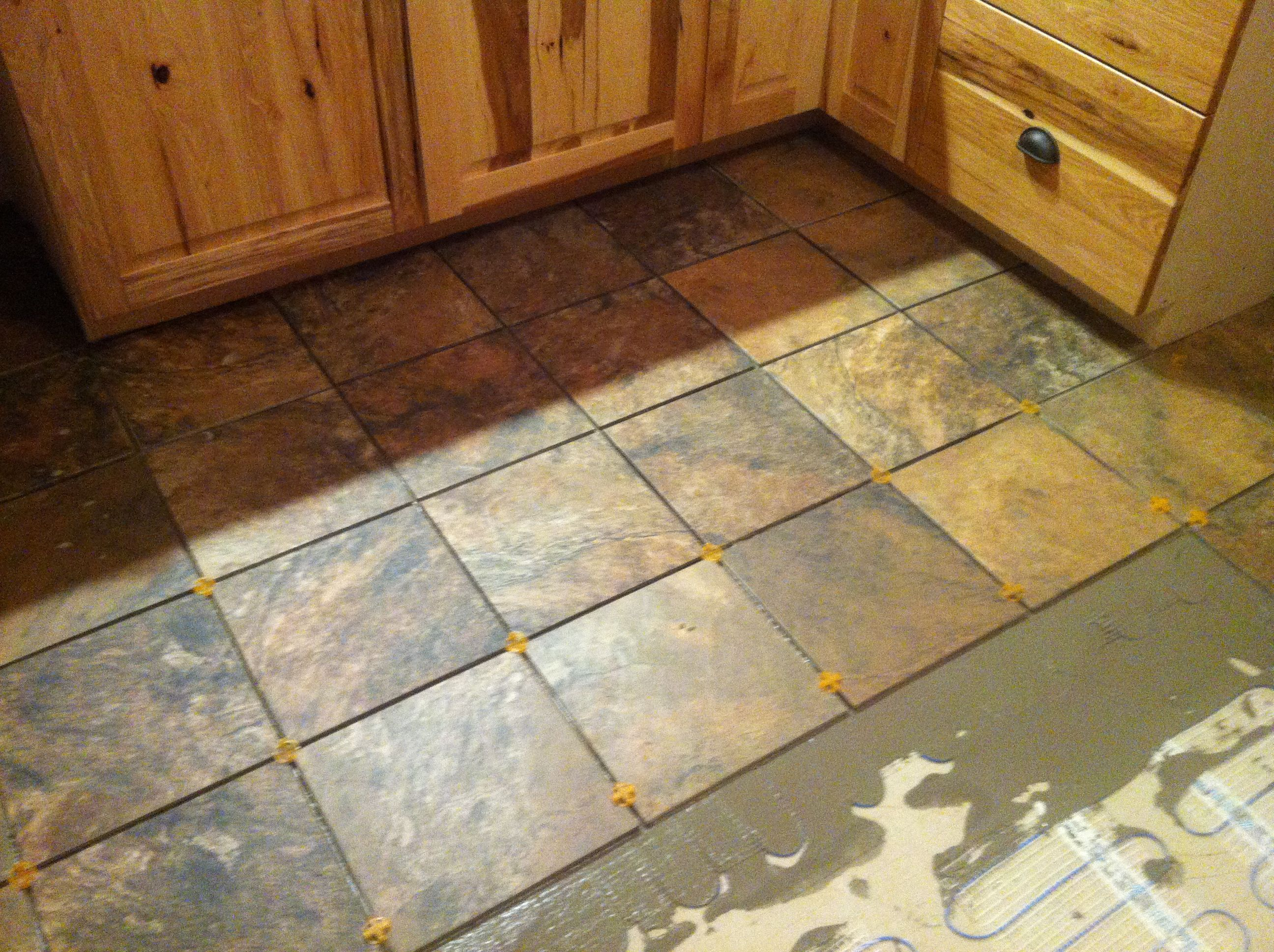 Heated Bathroom Floor Under Tile With Well Made Laticrete 3 X 5