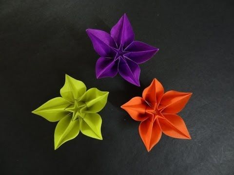 Origami flower tutorial how to fold origami carambola flower origami flower tutorial how to fold origami carambola flower easier tutorial mightylinksfo