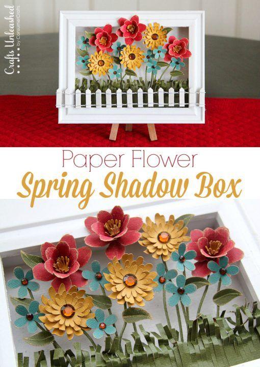 Paper Flower Projects The Best Tutorials Flower Shadow Box