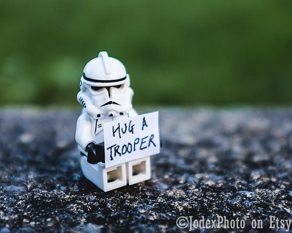 Star Wars Lego Stormtrooper Hug A Trooper Photograph Print Wall – Lego Star Wars Birthday Cards
