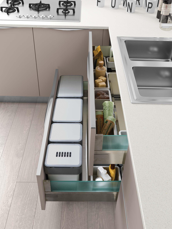 Vibo Under Bench Waste Bin | Tidy kitchen, Cabinetry ...