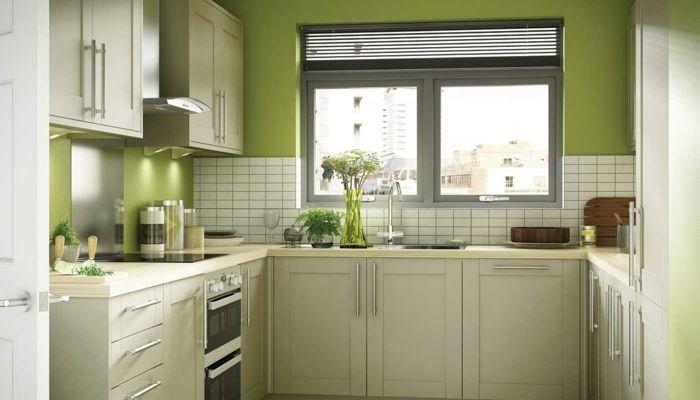 wandgestaltung küche grüne wände weiße wandfliesen maison - wandfliesen für küche